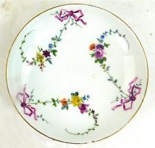 18TH CENTURY MEISSEN PORCELAIN SAUCER RIBBONS & FLOWERS