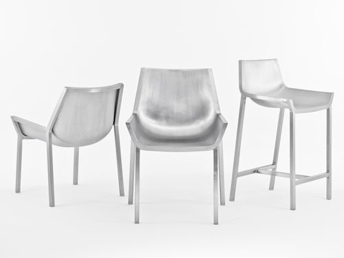 Emeco's Sezz-chairs, designed by Christophe Pillet, are made of aluminium and look amazing.