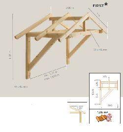 Tejadillos de madera para puertas de entrada diseo de - Tejadillos sobre puertas ...