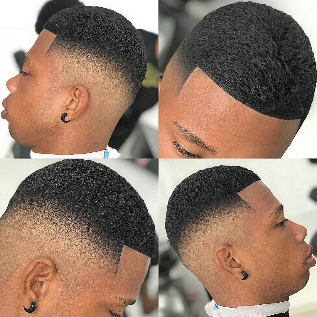 Coupe De Cheveux Homme Noir Dégradé Crew Cut High Skin Fade Black Mens Haircuts Top 100 Haircuts