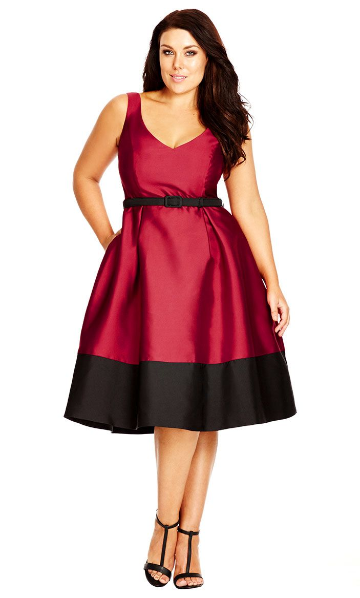 City chic lady like dress womenus plus size fashion city chic