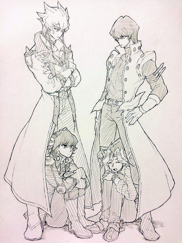 Seto Kaiba (with Yugi Moto/Muto) and Jack Atlas (with Yusei Fudo) | rivals | Yu-Gi-Oh! 5Ds