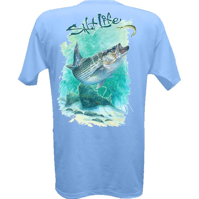 Salt Life All Men S Striper Crazy Pocket Tee Salt Life Shirts Fishing T Shirts Salt Life