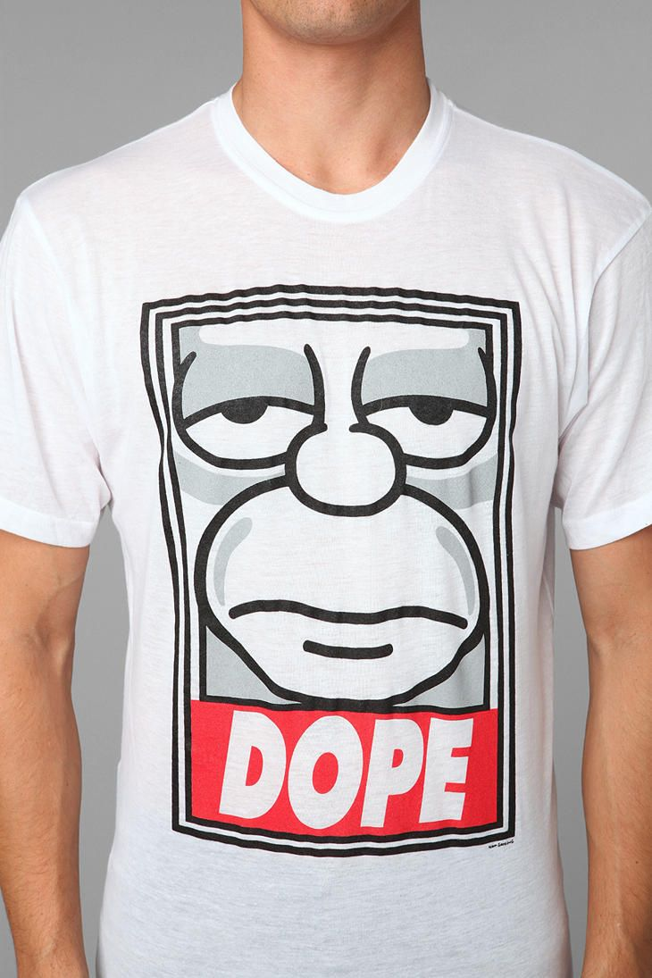 4c6da593fd7 The Simpsons DOPE Tee  urbanoutfitters ha i want this