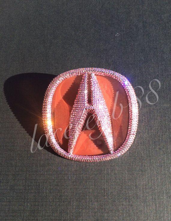 Light Pink Bling Acura TL Emblem by laceeeyb88 on Etsy   BlingItOn ...