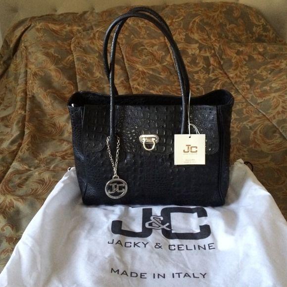 ITALIAN LEATHER HANDBAG This is brand new Jacky & Celine leather handbag Made in Italy. Genuine leather comes with dustbag, tag & charm. jacky & celine Bags