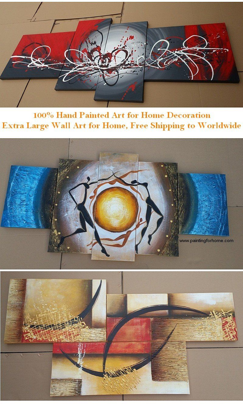 Samples of Extra Large Wall Art for Home, 100 Hand