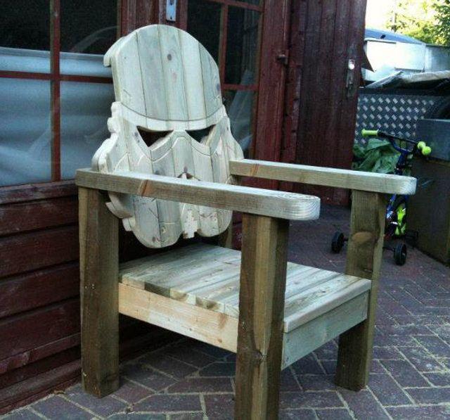 Swell Stormtrooper Head Wood Lawn Chair Woodw Lawn Chairs Inzonedesignstudio Interior Chair Design Inzonedesignstudiocom