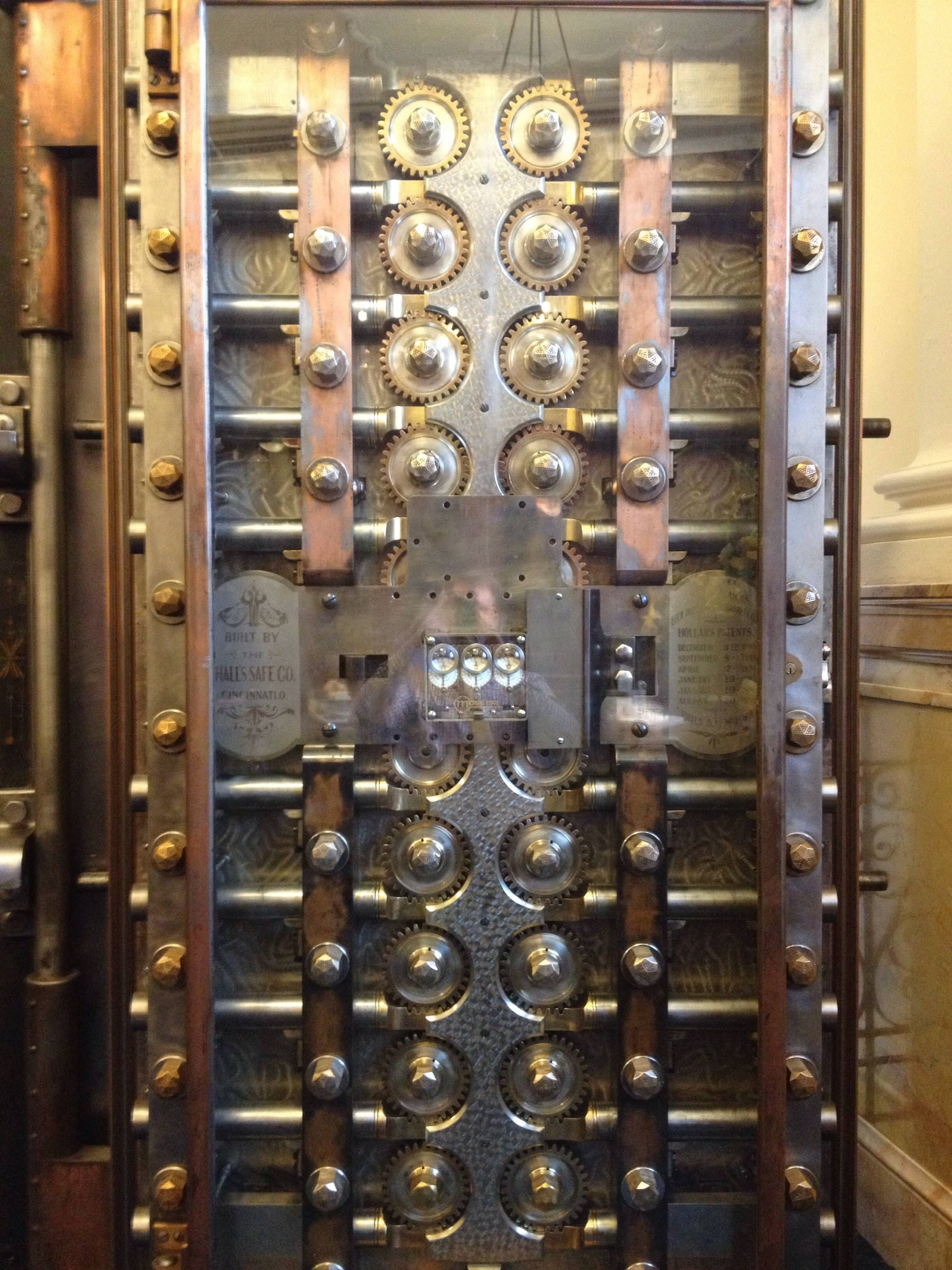 Inside of the vault door at the bank I work at  Beautiful
