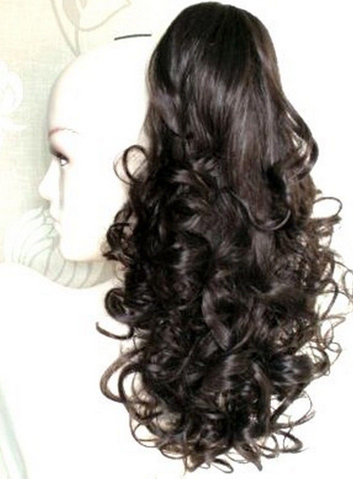 Beautiful Dark Brown Ponytail Clip In Hair Extension Ebay Fashion