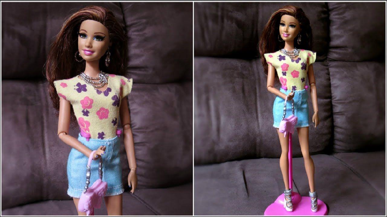 Blusa Sem Manga Para Barbie Diy Youtube Ropa Para Barbie