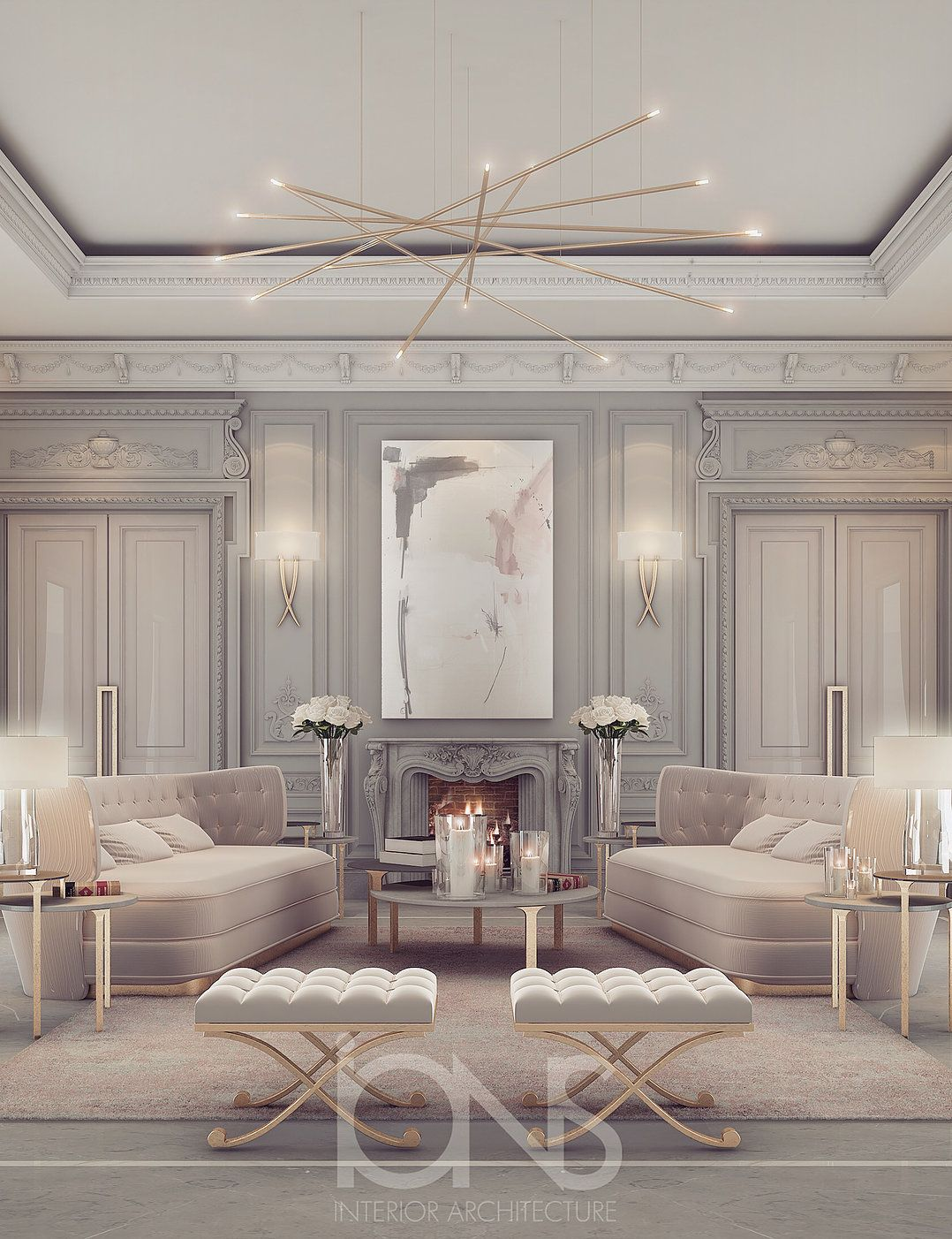 sitting area design private palace abu dhabi french modern etc
