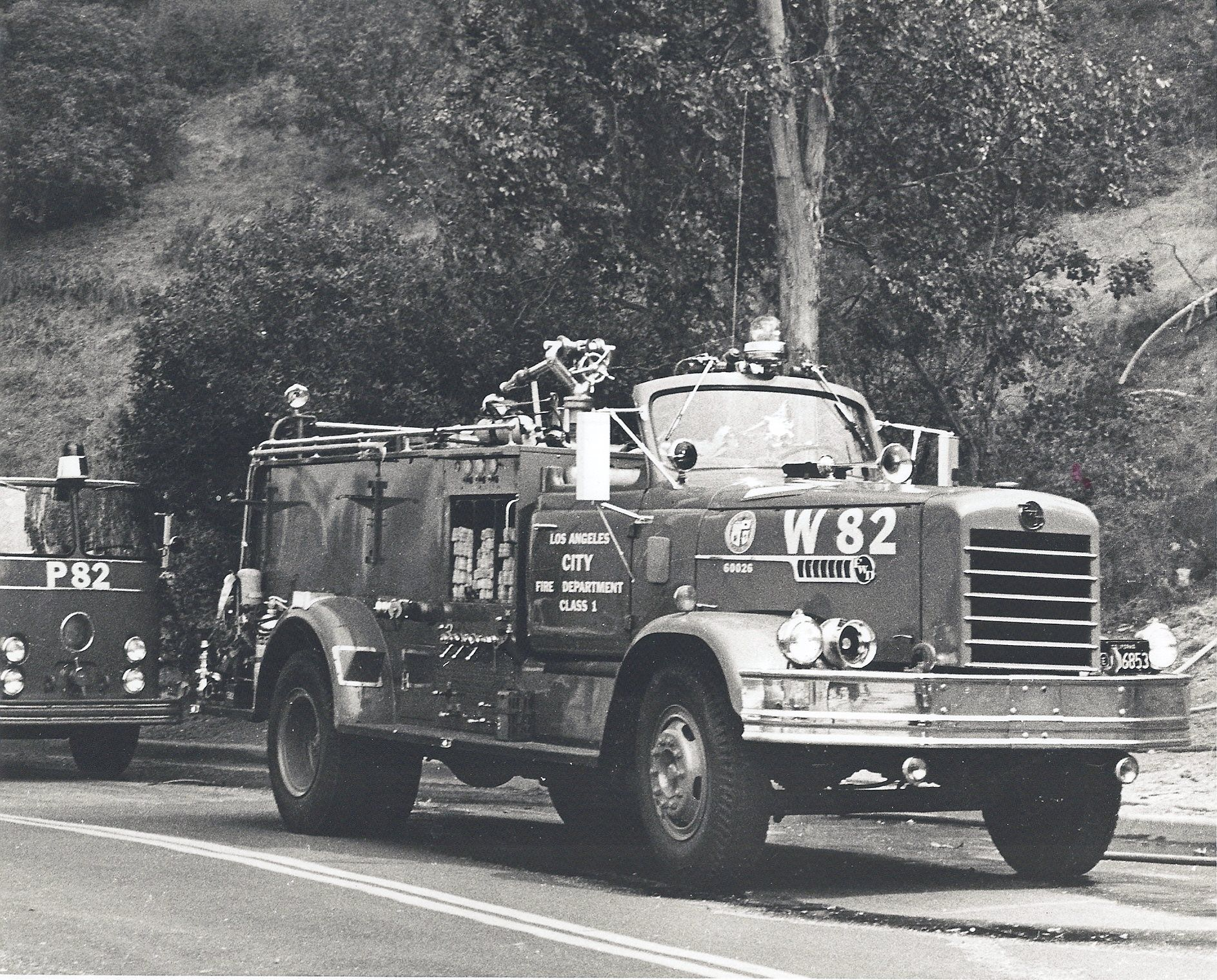 Los angeles city fire department wagon 82