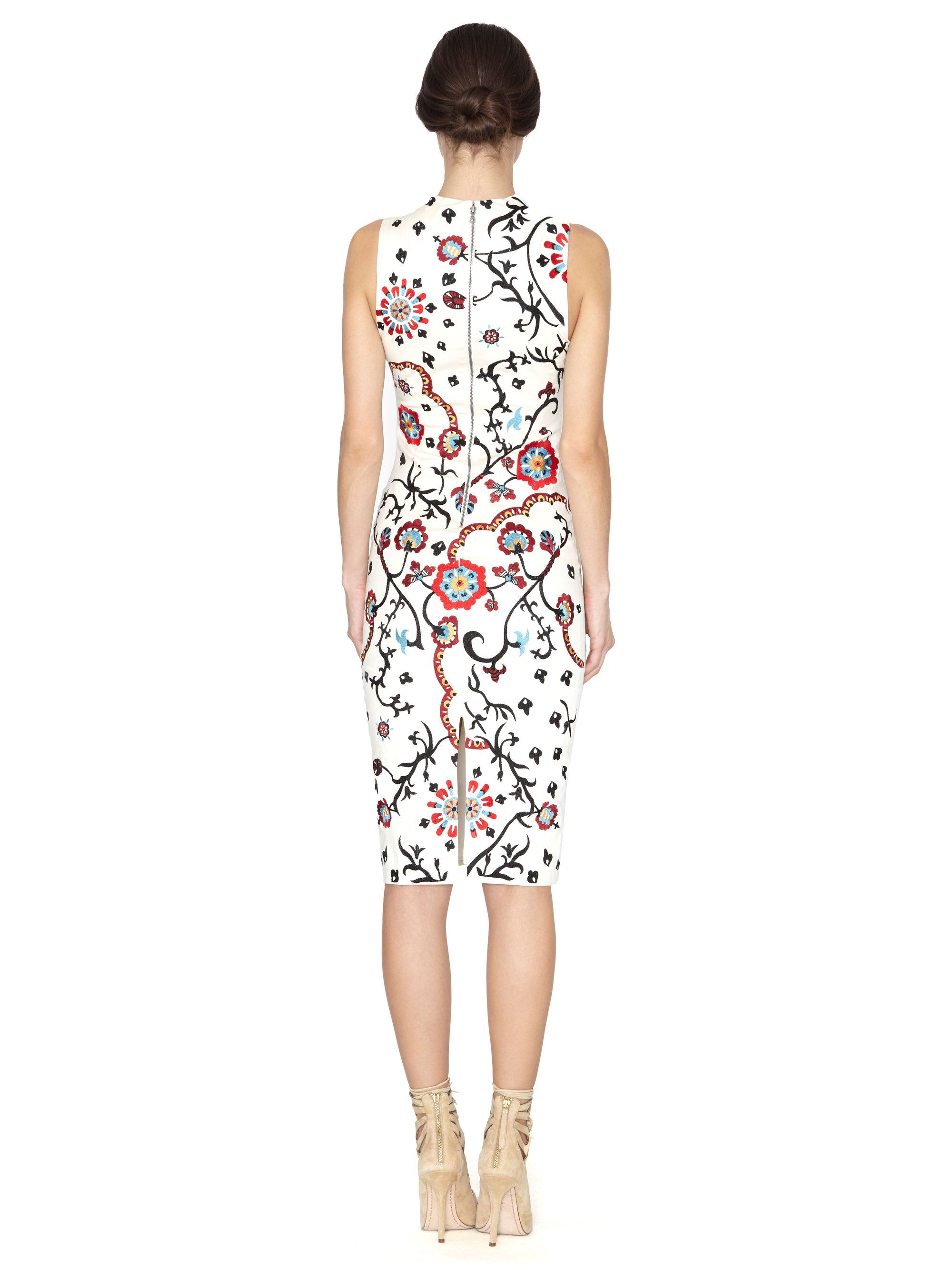JACKI EMBROIDERED V-NECK DRESS by Alice + Olivia
