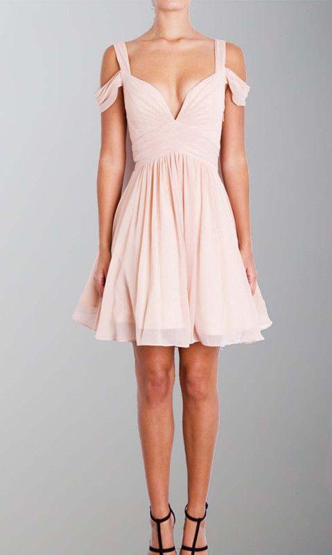 Off the Shoulder Pink Short Tank Prom Dresses from lovingdress ...