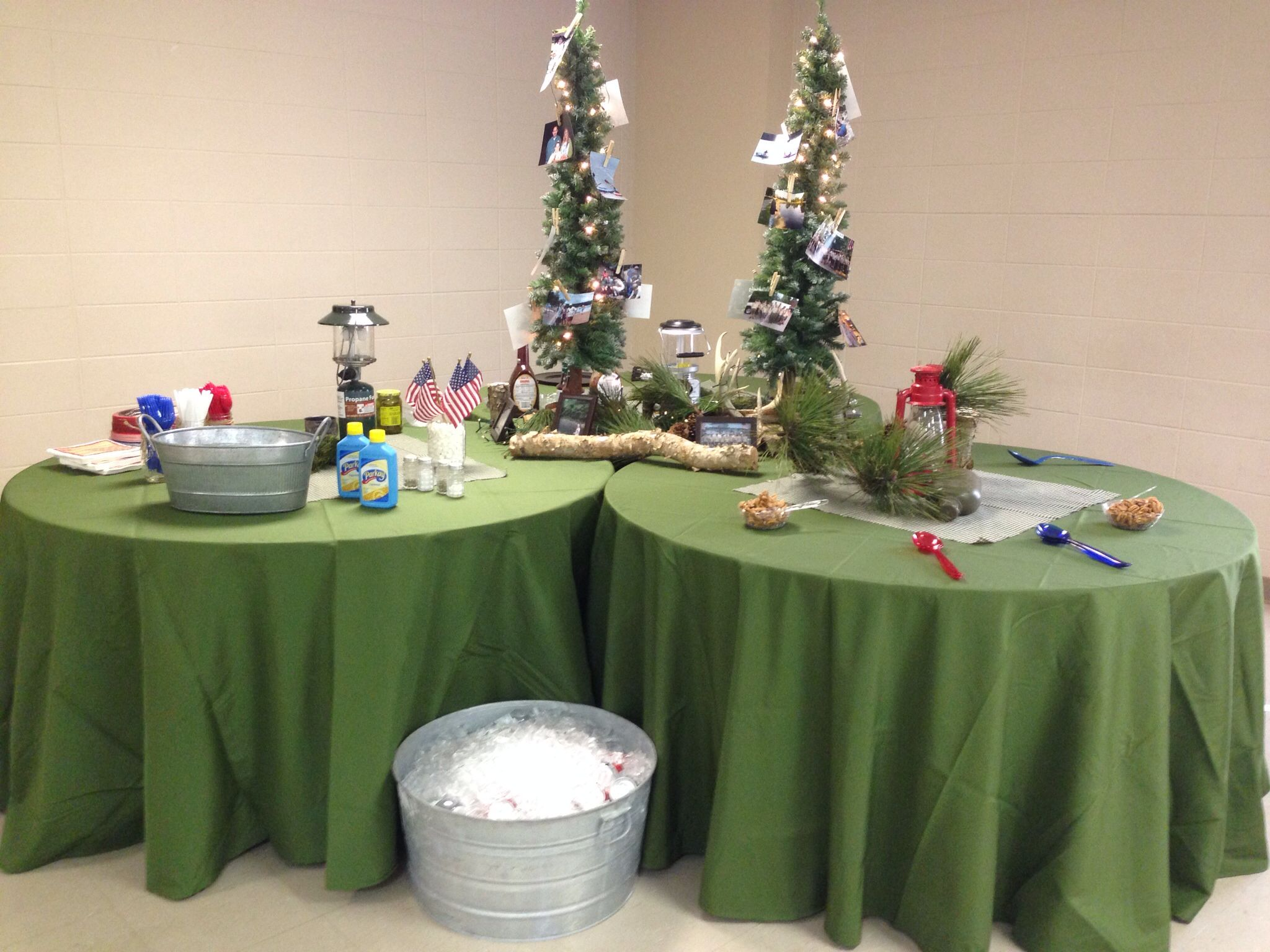 Eagle scout court of honor camping woodland theme for Award ceremony decoration ideas