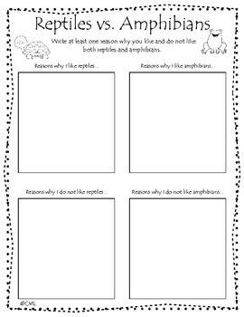 reptiles vs amphibians opinion writing kindergarten writing amphibians and reptiles. Black Bedroom Furniture Sets. Home Design Ideas