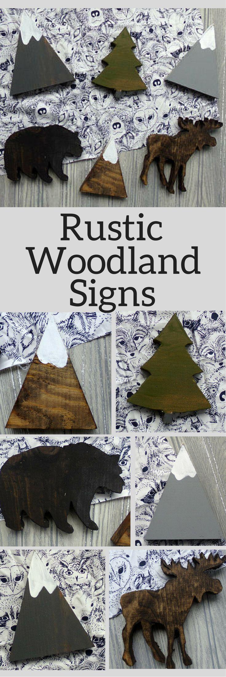 Rustic woodland nursery decor adventure awaits rustic wood signs