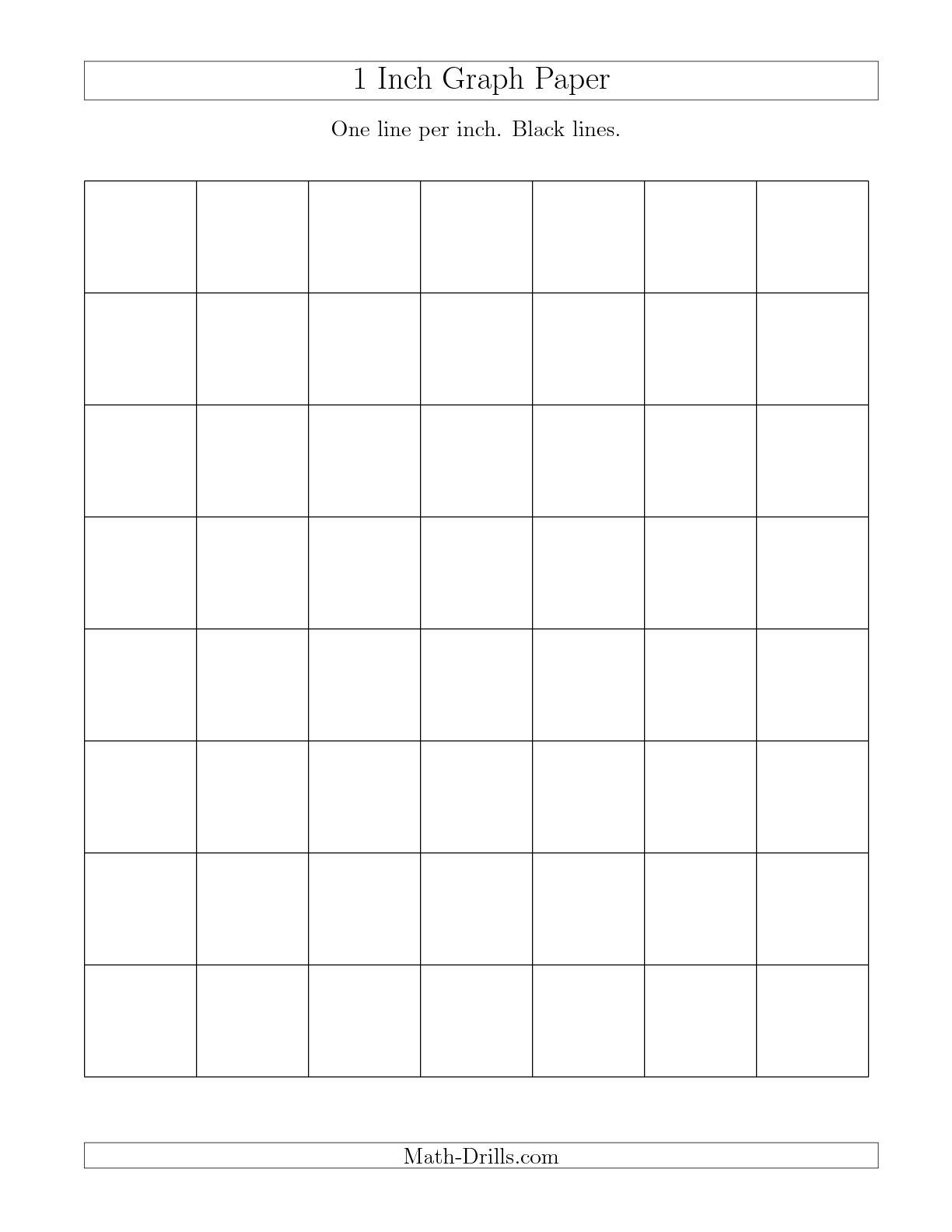 The 1 Inch Graph Paper With Black Lines A Graph Paper