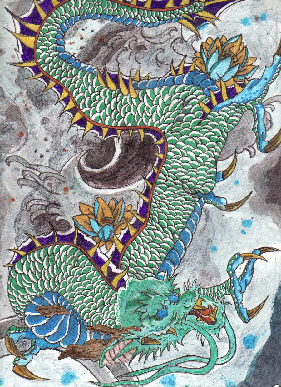 Traditional Japanese Dragon Art Best Photos Details 竜