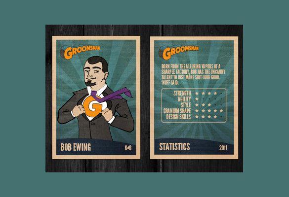 Trading Card Template 21 Free Printable Word PDF PSD EPS – Trading Card Template