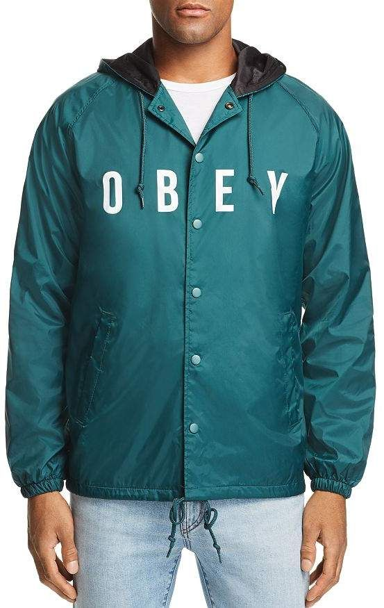 Obey Anyway Logo Print Jacket | Products in 2019 | Print