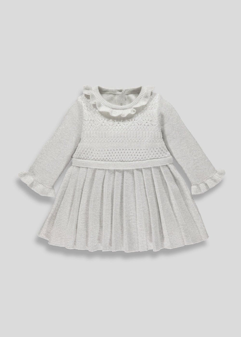 42dfc160b Pleated Knit Dress (Newborn-18mths)
