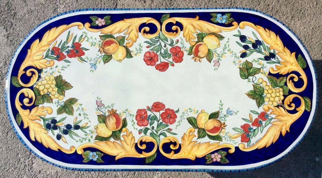Ceramiche vietri tavoli in pietra lavica maiolicata in