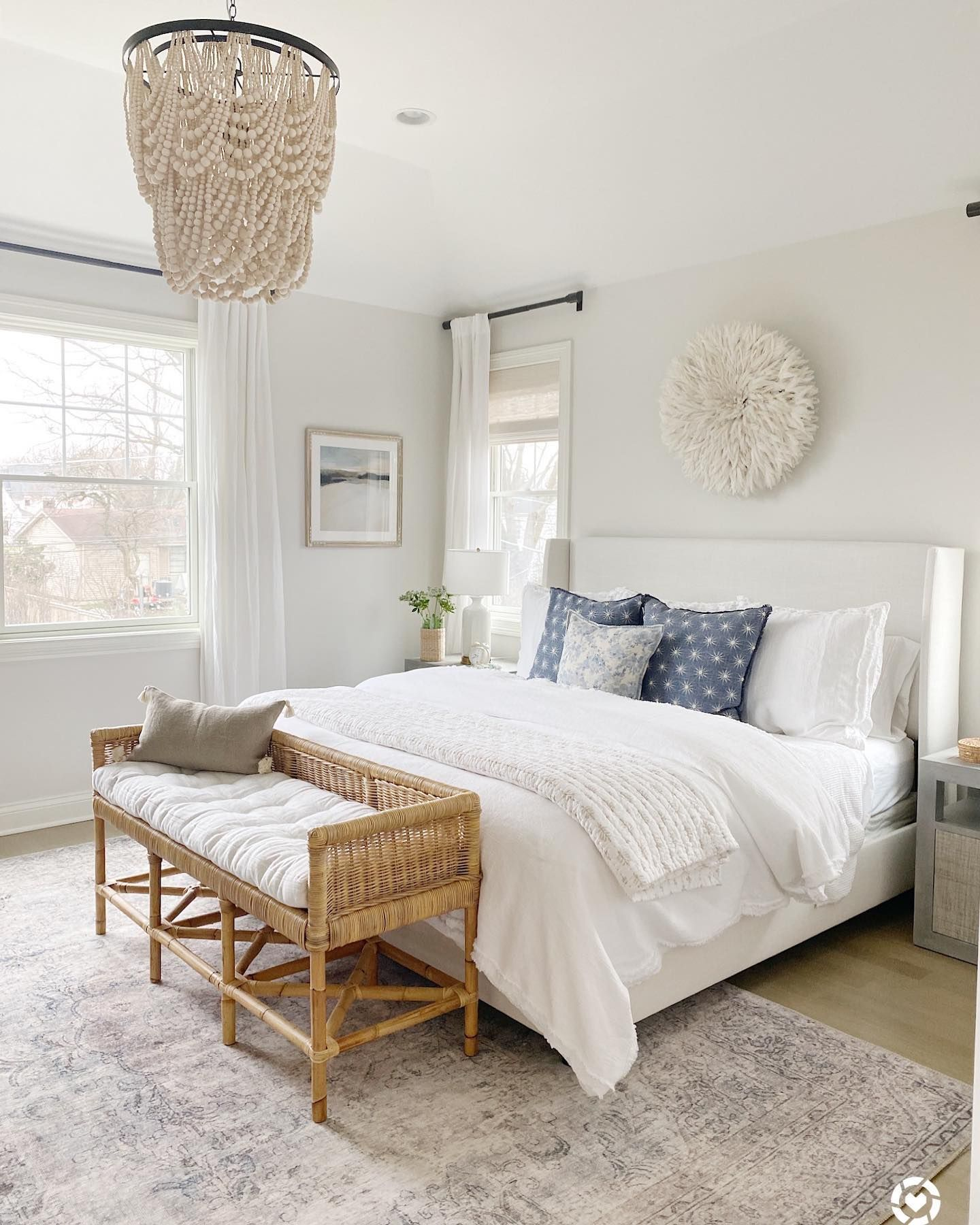 Creating Beautiful Spaces With Natural Seating From Serena Lily Life On Cedar Lane White Bedroom Decor Budget Home Decorating Hygge Home Interiors Pretty dubs master bedroom