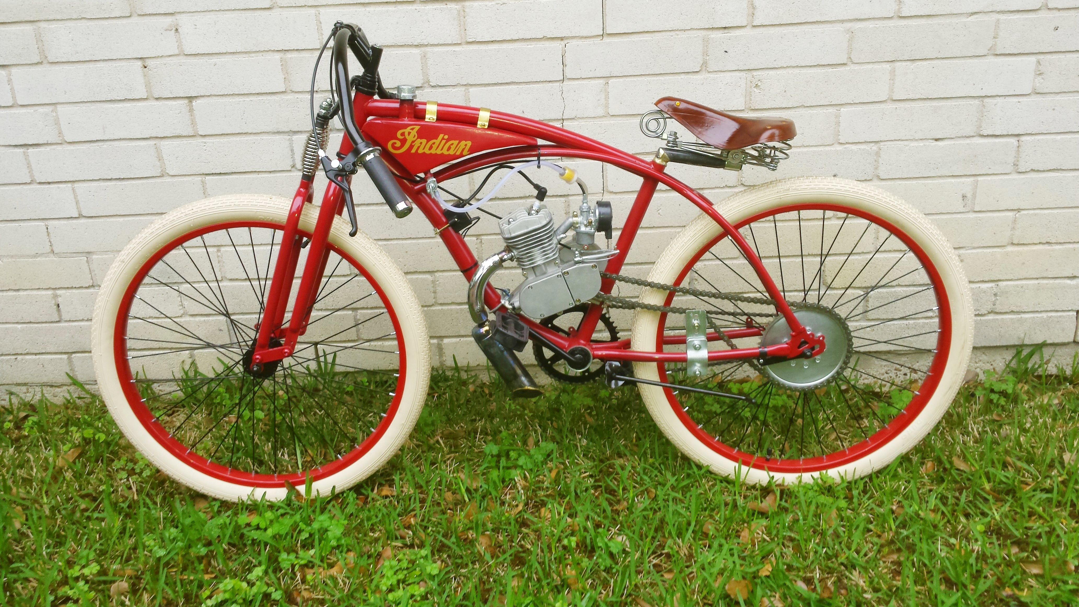 Indian Speedway Racer Motorized Bicycle Motorized Bicycle Bicycles For Sale Bicycle