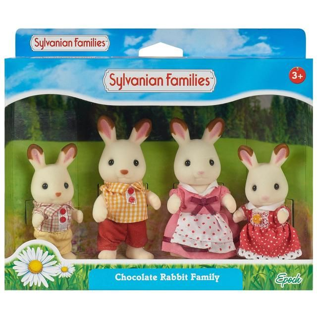 Boy of Sylvanian Families dolls chocolate rabbit family chocolate rabbit