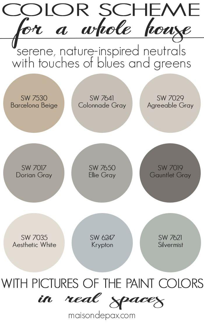 Paint Color Home Tour: Nature-Inspired Neutrals #paintcolorschemes