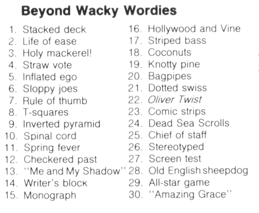 Workbooks wacky wordies worksheets : Wackie Wordies #61 | FYI | Pinterest
