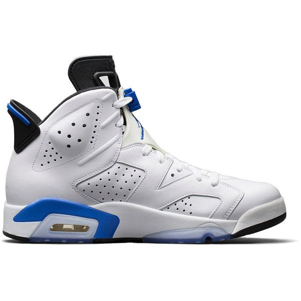 7391be771faf Nike Air Jordan Retro 6  Sport Blue  ( 350) ❤ liked on Polyvore featuring  mens