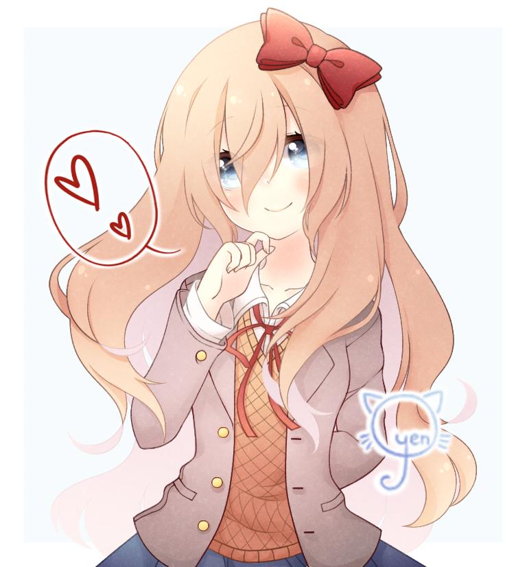 Long Haired Sayori Doki Doki Literature Club Literature Club Fan Art Literature