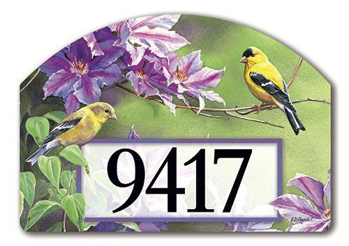 Finch Pair Address Sign By MagnetWorks. $15.95. Yard