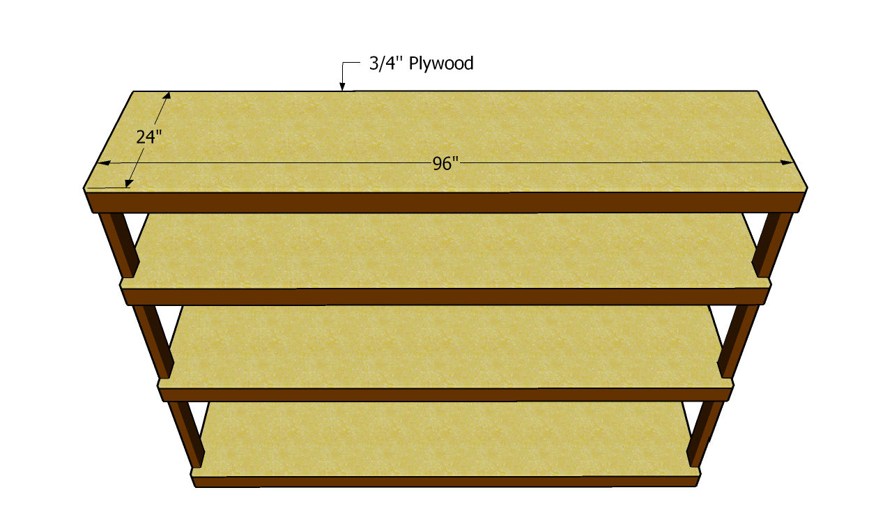 Plywood shelf plans This bookcase is made from 3 4 plywood 2x4 s ...