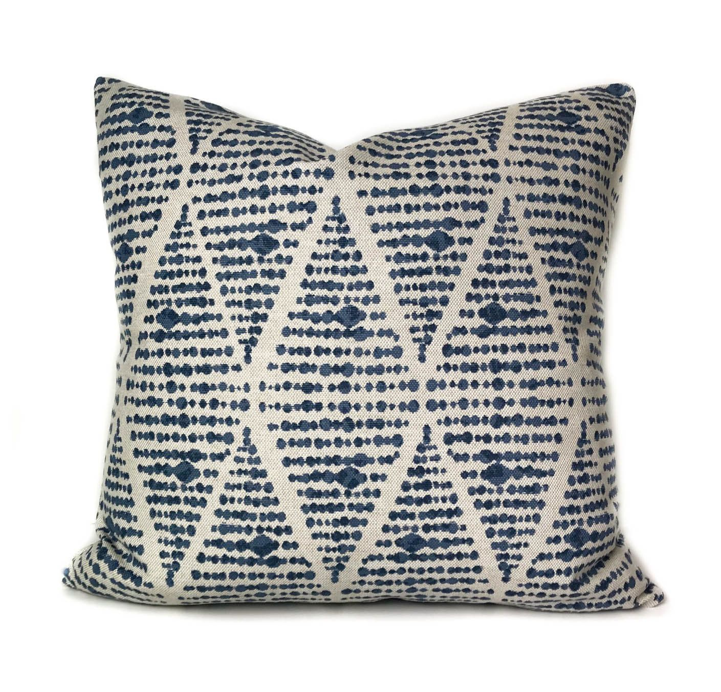 Outdoor Throw Pillow Cover With Zipper Blue Outdoor Patio Cushion In Modern Geometric Pattern Outdo Outdoor Throw Pillows Throw Pillows Outdoor Pillow Covers