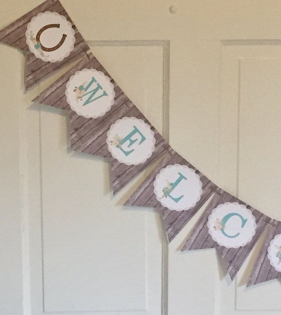 RUSTIC CHIC HORSE Happy Birthday Or Baby Shower By LolosBoutique
