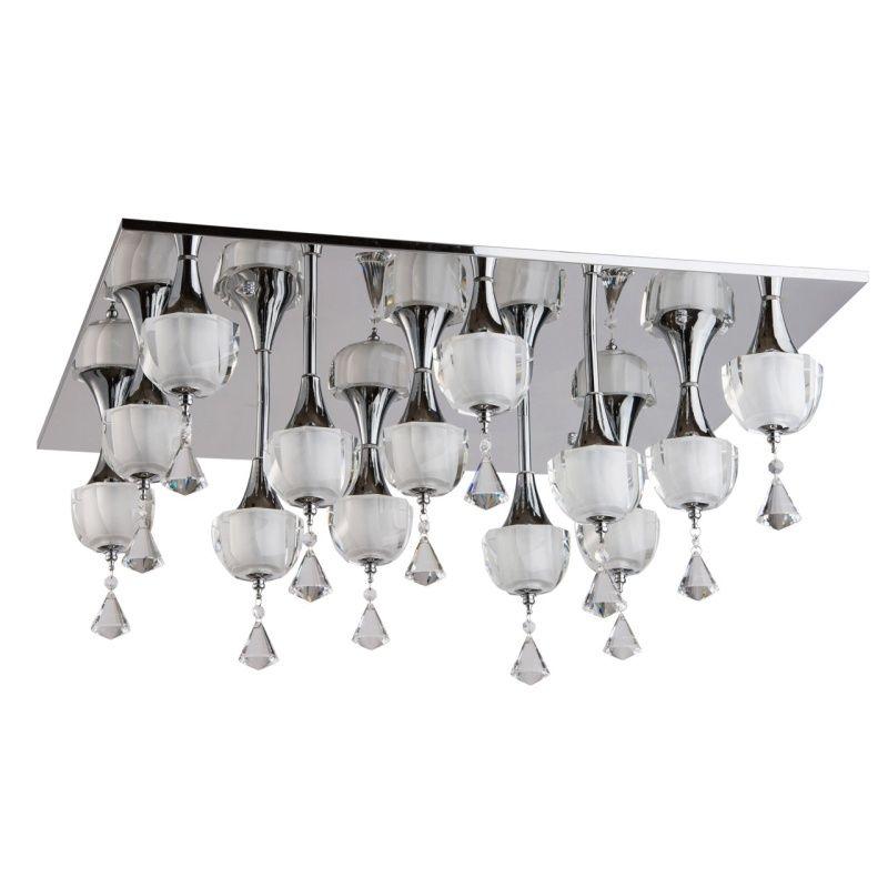 Moderne LED Deckenleuchte Techno 13-flammig CHIARO 455010913 - led deckenleuchte küche