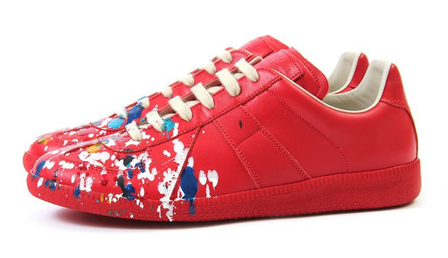 Replica paint design sneakers - Red Maison Martin Margiela I8yewy5z