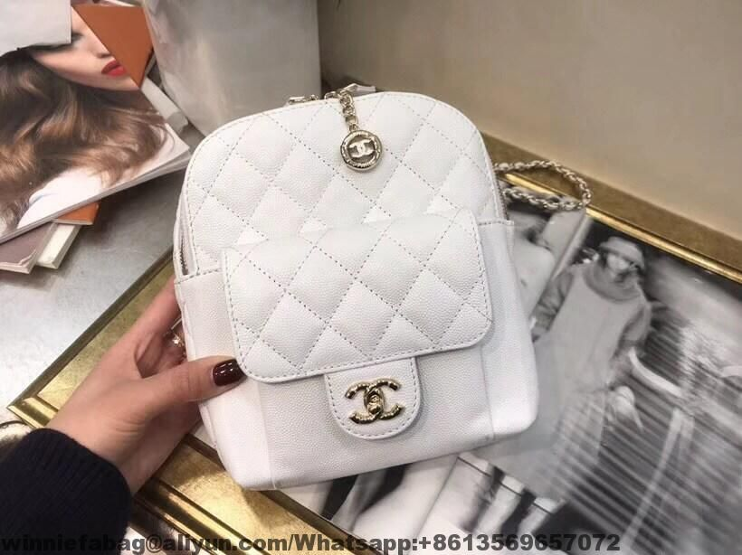 f173f1d7e74bff Chanel Grained Calfskin CC Day Backpack AS0004 2019 | Chanel in 2019 ...