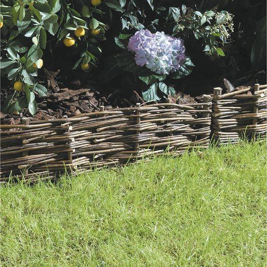 Bordure à planter bois naturel H 30.00 x L 100.00 cm ...