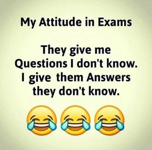 My Attitude in Exam | Funny Pictures, Quotes, Pics, Photos, Images