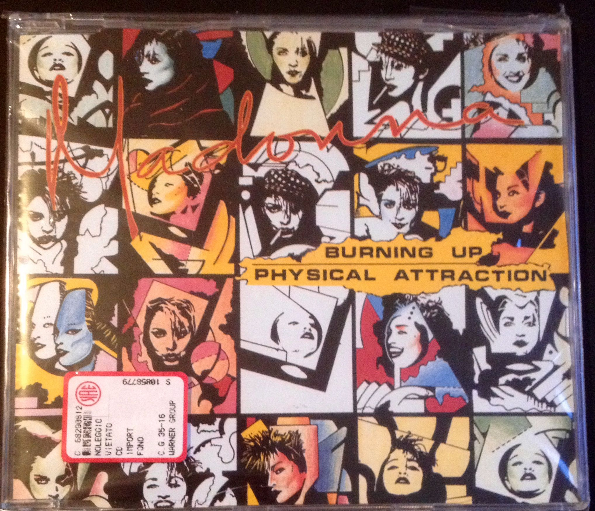Madonna - Burning up / Physical Attraction (Cd single - Yellow series) Front #Madonna