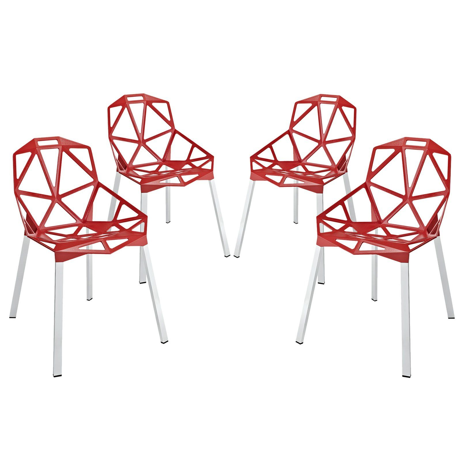 Modway Furniture Modern Connections Dining Chair Set Of 4 Eei