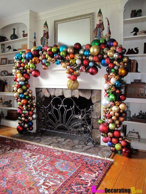 DIY Friday – Easy Christmas Mantel Decorating   Christmas mantels ...