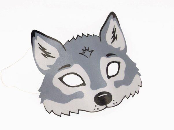 Wolf-Maske zum Ausdrucken | Crazypatterns Autorengemeinschaft ...