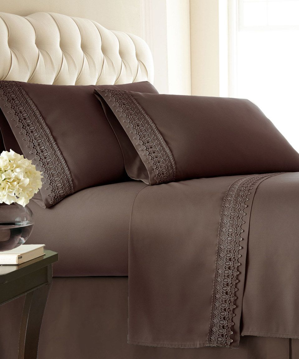 Another great find on #zulily! Brown Deep-Pocket Sheet Set by ...