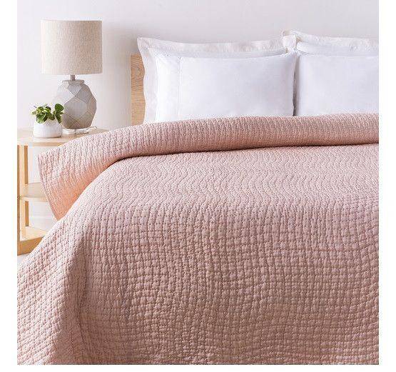Alba Solid Blush Pink Quilt